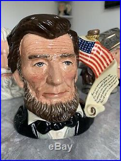 Large Size Abraham Lincoln Limited Edition Doulton Character Jug