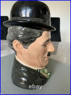 Large Size Charlie Chaplin Limited Edition Doulton Character Jug