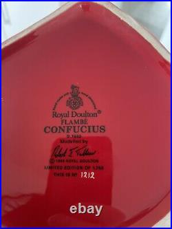 Large Size Flambe Confucius Royal Doulton Character Jug