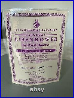 Large Size General Eisenhower Limited Edition Doulton Character Jug