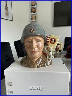 Large Size General Patten Royal Doulton Character Jug