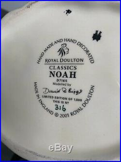 Large Size Noah Limited Edition Doulton Character Jug