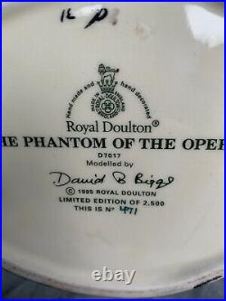 Large Size Phantom Of The Opera Limited Edition Doulton Character Jug