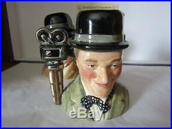Laurel And Hardy Pair Of Character Jugs D 7008 & D 7009 Royal Doulton