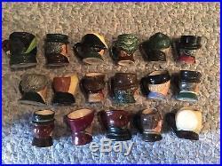 Lot 17 Royal Doulton Tiny Character Mugs Toby Jugs Mixed Assortment