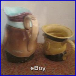 Lot Of 2 Character Toby Jugs Mugs Winston Churchill Porcelain
