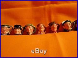 Lot Of Royal Doulton Toby Character Jugs/twelve Original Tiny/tinies