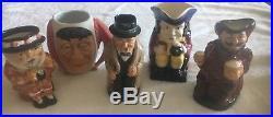 Lot of 15 Character Toby Jugs Mugs Royal Doulton, etc plus 4 mini Toby teapots