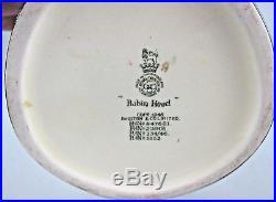 Lot of 7 Royal Doulton Large Toby Mugs Character Jugs Pied Piper, Robin Hood, Gamp