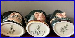 Lot of 8 Royal Doulton Toby Character Jugs, Large, Small, Mini MINT! Old mark A