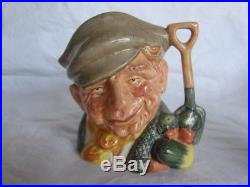 Lot of Eight Royal Doulton Character Toby Jug Miniature Mugs