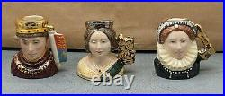 Lovely Rare Royal Doulton Kings and Queens Character Jugs Set Ltd Edition SU183