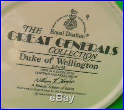 Ltd Ed of 5,000 Royal Doulton Large Character Jug DUKE OF WELLINGTON D6848