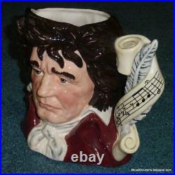 Ludwig van Beethoven Royal Doulton Character Toby Jug D7021 ULTRA RARE