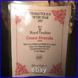 MINT-Royal Doulton Large Size Character Jug of the year 1997-Count Dracula D7053