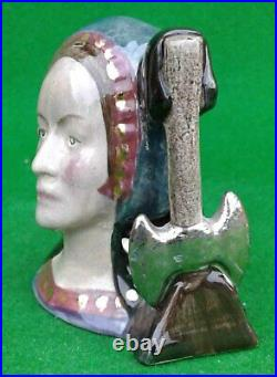 Miniature Royal Doulton Character Jug Anne Boleyn Not Produced For Sale