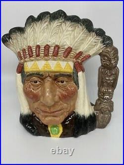 Mint Royal Doulton 7 Toby Character Mug Jug D661 North American Indian Okoboji