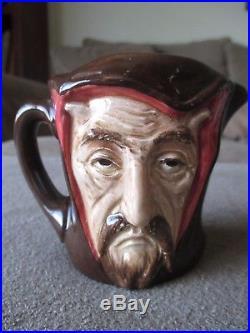 NICE Toby Mug devilish MEPHISTOPHELES 2-faced character jug by Royal Doulton