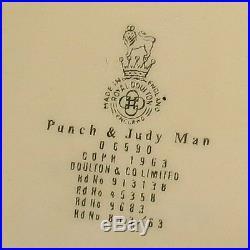 Old RARE ROYAL DOULTON PUNCH AND JUDY MAN LARGE SIZE CHARACTER JUG D6590
