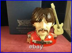 Peggy Davies Ceramics George Harrison The Beatles Character Jug Ex Royal Doulton