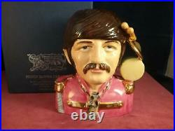 Peggy Davies Ceramics Ringo Starr The Beatles Character Jug Ex Royal Doulton