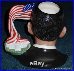 President Barack Obama Royal Doulton Character Toby Jug D7300 With Box RARE