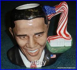 President Barack Obama Royal Doulton Toby Jug D7300 Character Jug Of 2011 RARE