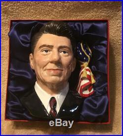 President Ronald Reagan Royal Doulton Character Toby Jug D6718 1984 With Box