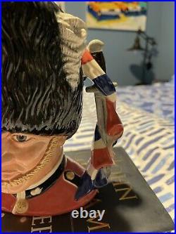 Prototype Royal Doulton The Guardsman Large Character Jug Union Jack Handle