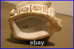 RARE 18th Century Original French Faience Character Toby Jug Barrell Man Desvres