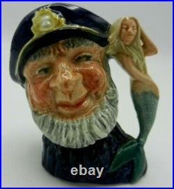 RARE Miniature Royal Doulton Character Jug OLD SALT Open Arm D6577