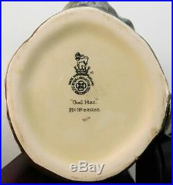 RARE Royal Doulton Character Jug Owd Mac D5823 RARE Bkstmp. A