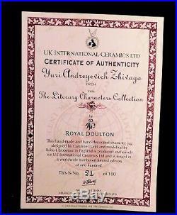 RARE Royal Doulton Character Jugs Dr. Zhivago & Lara D7286&87 RARE