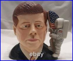 RARE Royal Doulton -John F. Kennedy -Lg Character Jug #D7246 Limited Edition