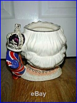 RARE Royal Doulton Queen Elizabeth II Large Character Jug D7256 Excellent 1st