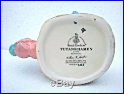 RARE! Royal Doulton TUTANKHAMEN Tutankhamun 7127 character jug KING TUT mug CERT