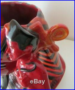 RARE Royal Doulton The Pharaoh D7028 Flambe Toby Character Jug COA Nice