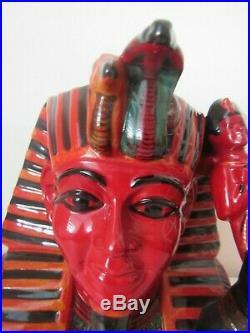 RARE Royal Doulton The Pharaoh D7028 Flambe Toby Character Jug COA Perfect