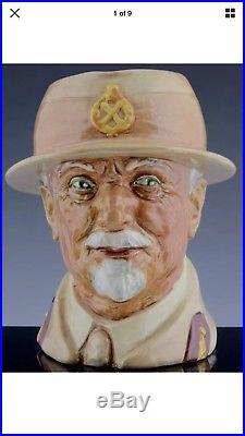 RARE c1947 ROYAL DOULTON PORCELAIN FIELD MARSHAL J C SMUTS CHARACTER JUG TOBY