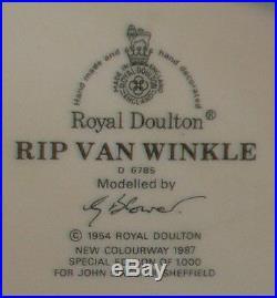 RIP VAN WINKLE Limited Ed. Royal Doulton Large Character Jug