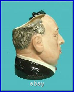 ROYAL DOULTON Alfred Hitchcock D6987 Large Character Jug Entertainers Series