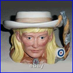 ROYAL DOULTON Annie Oakley Character Jug 5.5 NEW NEVER USED D6732 made England