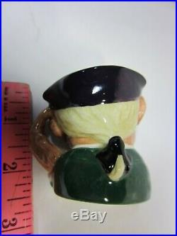 ROYAL DOULTON Ard of Earing D 6594 Deaf Mini Character Toby Mug Jug RARE Vintage