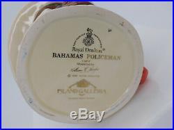 ROYAL DOULTON Bahamas Policman Large Character Jug D6912 Professions Series 1991