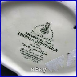 ROYAL DOULTON CHARACTER LARGE JUG THOMAS JEFFERSON D6943 Ltd Edition