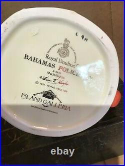 ROYAL DOULTON Character Jug Bahamas Policeman D6912 Limited Ed. Only 1,000