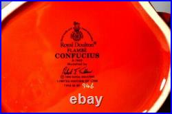 ROYAL DOULTON D7003 Large Character Jug CONFUCIUS Flambé 1995 Ltd Ed 1750 withCOA