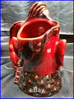 ROYAL DOULTON FLAMBE CHARACTER JUG ALADDINS GENIE LTD ED With COA XLNT COND
