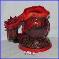 ROYAL DOULTON FLAMBE LARGE SIZE CHARACTER JUG CONFUCIUS D7003 with cert