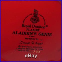 ROYAL DOULTON FLAMBE Limited Edition CHARACTER JUG D6971 ALADDINS GENIE